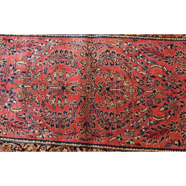 1900s, Handmade Antique Persian Sarouk Runner 3.2' X 7.10' For Sale - Image 4 of 12