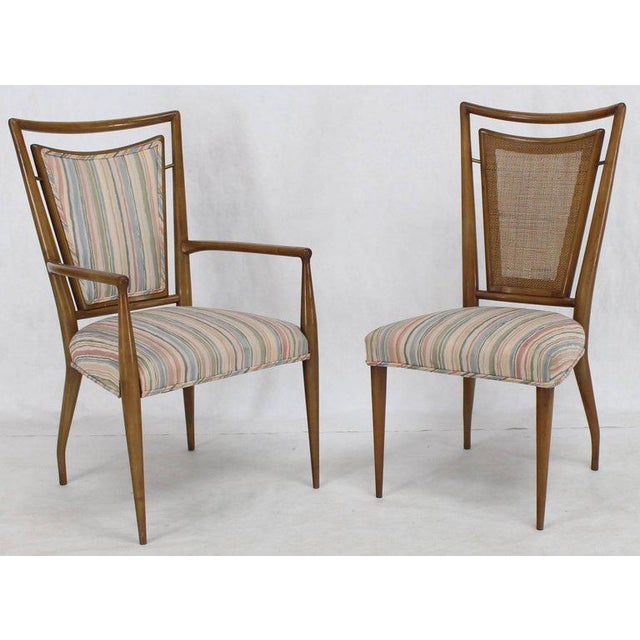 Mid-Century Modern Set of Six Mid-Century Modern Walnut Dining Chairs by Widdicomb in Ponti Style For Sale - Image 3 of 10