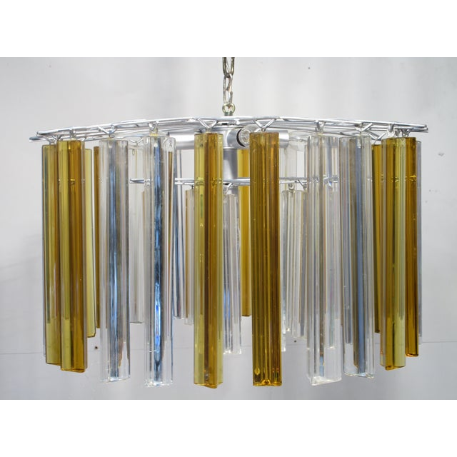 Vintage Retro Glass Rod Chandelier - Image 2 of 6