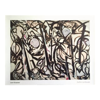 """Lee Krasner Foundation Abstract Expressionist Lithograph Print Poster """" Gothic Landscape """" 1961 For Sale"""