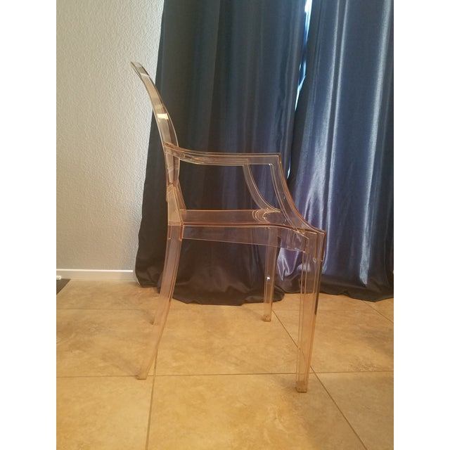 Philippe Starck 4 /Philippe Starck for Kartell Louis Ghost Plastic Arm Chair For Sale - Image 4 of 6