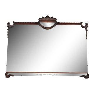 Antique Chinese Chippendale Mahogany Wall Mirror For Sale