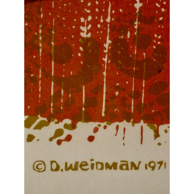 1970s 1971 Mid-Century Modern Print From David Weidman Cranes For Sale - Image 5 of 6