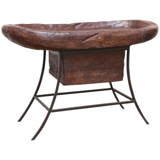 Early 19th Century Solid Hardwood Receptacle Used for Pounding Grains For Sale