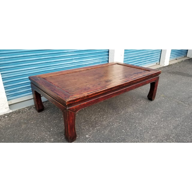 Beautiful rustic Monk Bed coffee table. Originally meant to be used as a bed, this coffee table is solid wood with much...