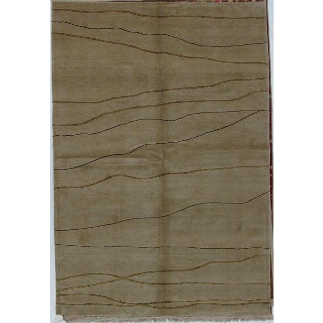 Soumak Design Hand Woven Wool Rug - 6' x 9' - Image 5 of 6