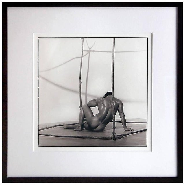 Photography Early Silver Gelatin Print by Blake Little 'Untitled 'Man in Cube', 1990 For Sale - Image 7 of 7
