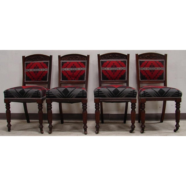 Ralph Lauren Fabric Dining Chairs - Set of 4 - Image 3 of 6