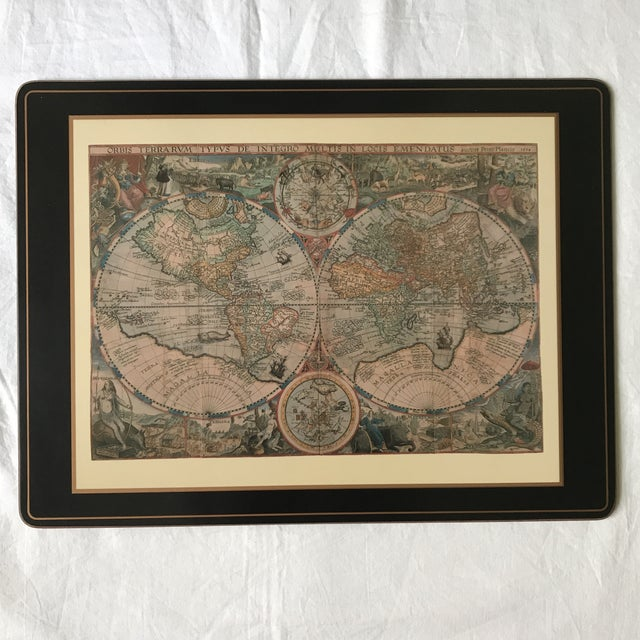 Pimpernel Old World Maps Placemats - Set of 4 | Chairish