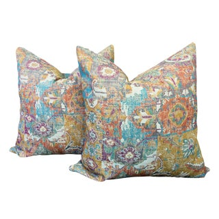 Jewel Toned Old World Pillows - a Pair For Sale