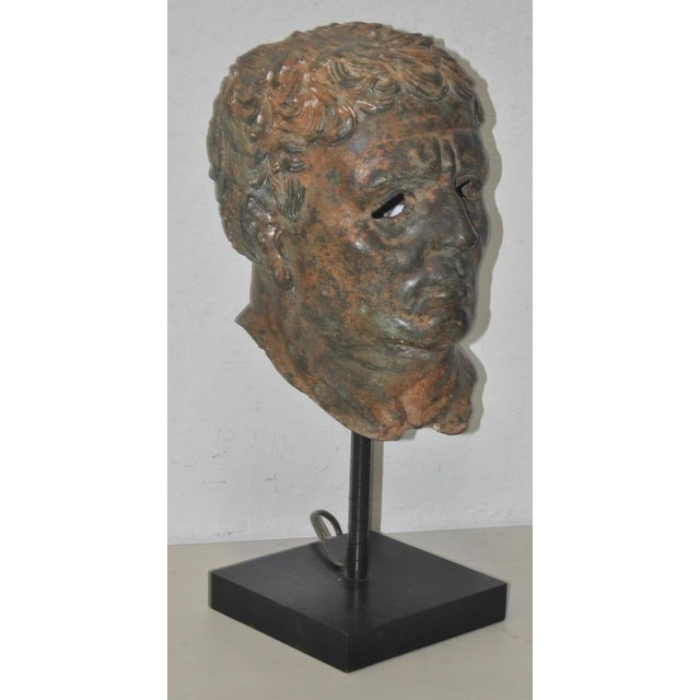 Mediterranean 19th Century Bronze Head After Greek Antiquities For Sale - Image 3 of 10