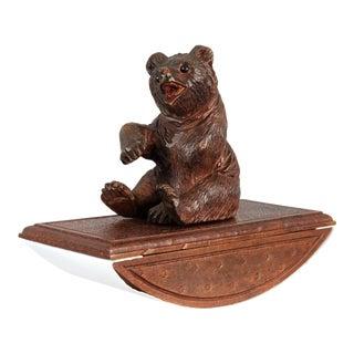 Antique Black Forest Bear Ink Blotter