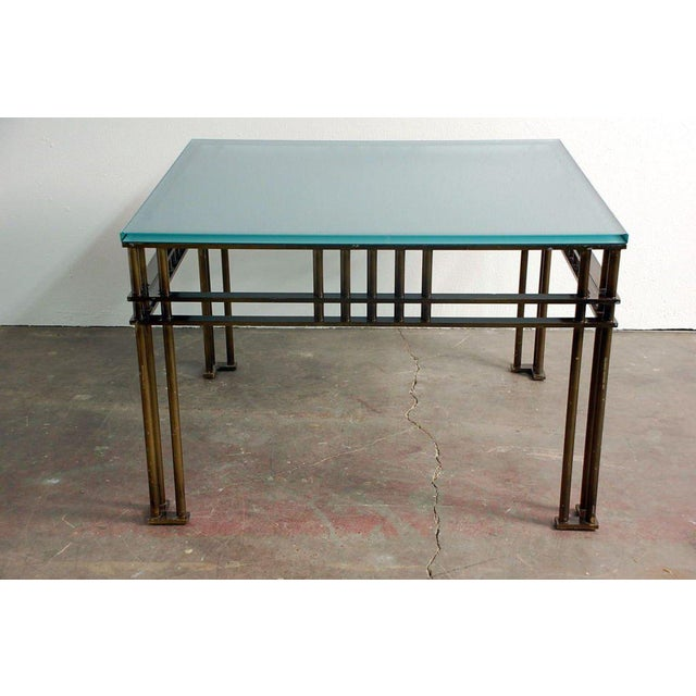 Gold Attila Coffee or Low Centre Table by Jean-Michel Wilmotte For Sale - Image 8 of 8