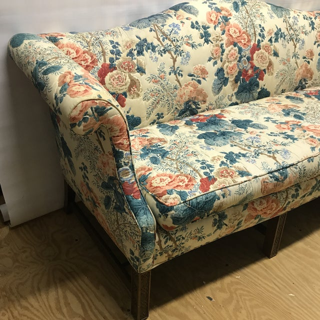 Hollyhock Chintz Camelback Sofa For Sale - Image 4 of 11