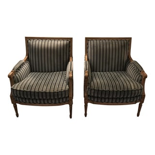 Louis Solomon French Bergere Chairs - A Pair