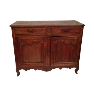 19th Century French Louis XV Walnut Buffet For Sale