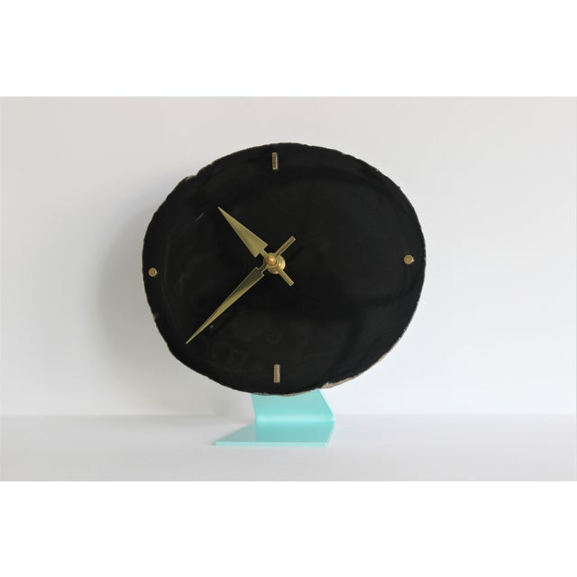 Agate Slice Black Desk Clock - Image 5 of 7
