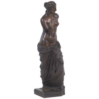 "Monumental Grand Tour Bronze Sculpture of the ""Venus De Milo"" For Sale"