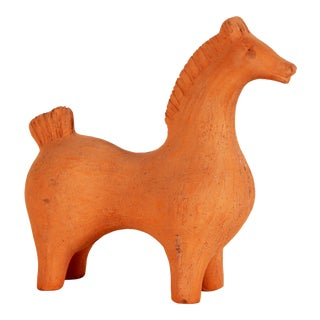 1960s Aldo Londi for Bitossi Unglazed Ceramic Horse For Sale