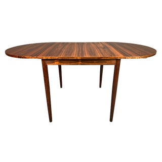 Vintage Danish Mid Century Modern Rosewood Drop Leaf Dining Table For Sale