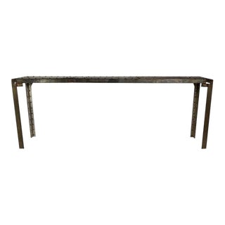20th Century Industrial Riveted Console For Sale