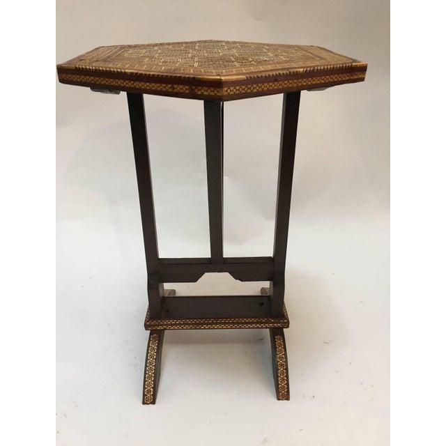 Egyptian Octagonal Side Tilt-Top Table For Sale - Image 10 of 10