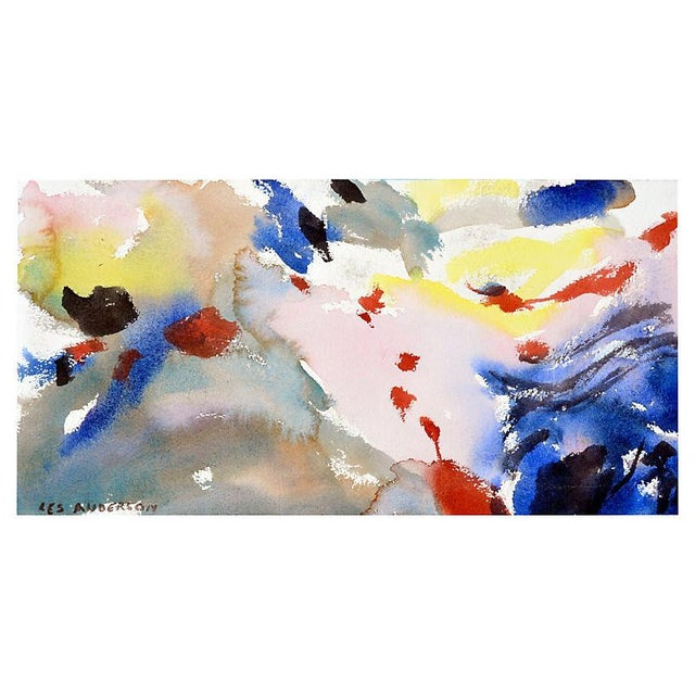 Scene from Carmel overlooking Monterey Bay by Les (Leslie Luverne) Anderson (American, 1928-2009). Abstract image on...