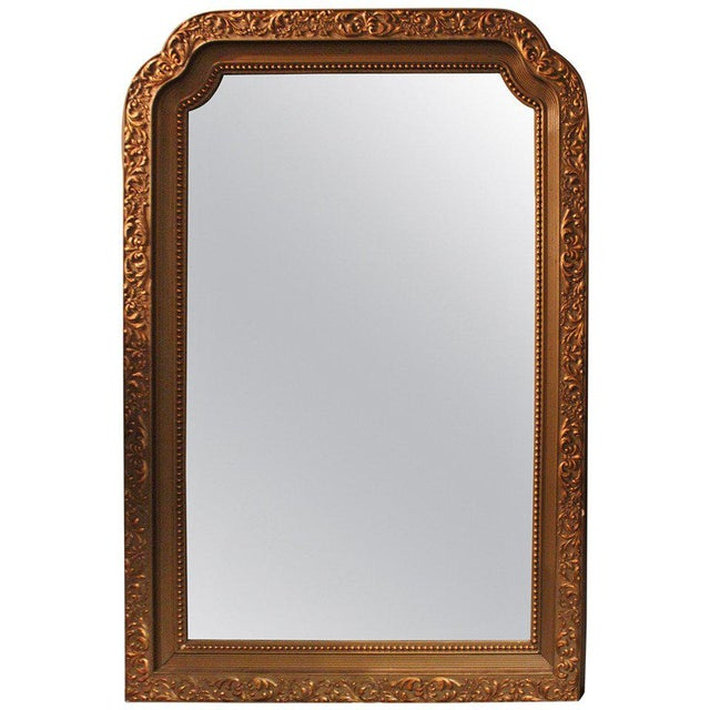 Gilt Polychrome Wall Mirror For Sale - Image 4 of 4