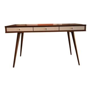Contemporary Custom Walnut Desk For Sale