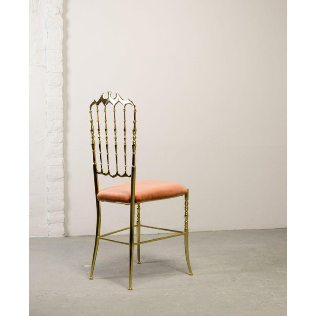 Mid-Century Italian Design Side Chair by Giuseppe Gaetano Descalzi for Chiavari, Italy, 1950s For Sale - Image 10 of 11