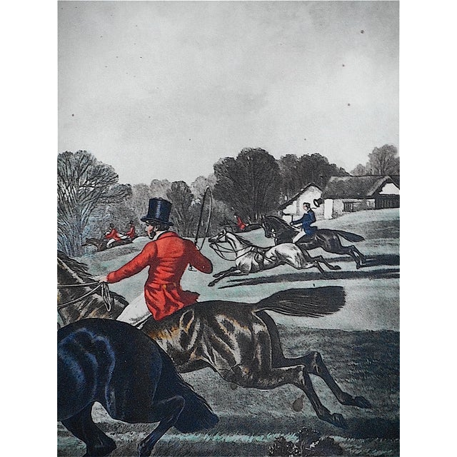 Antique Fox Hunting Engraving For Sale - Image 4 of 5