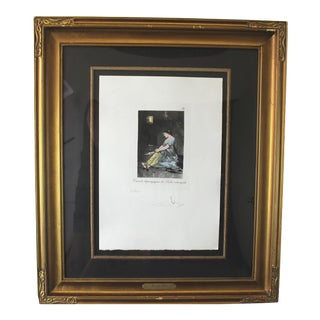 1970s Vintage Salvador Dali Pencil Signed Lithograph For Sale
