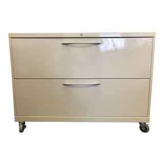 Steelcase Metal Two Drawer Lateral Filing Cabinet For Sale