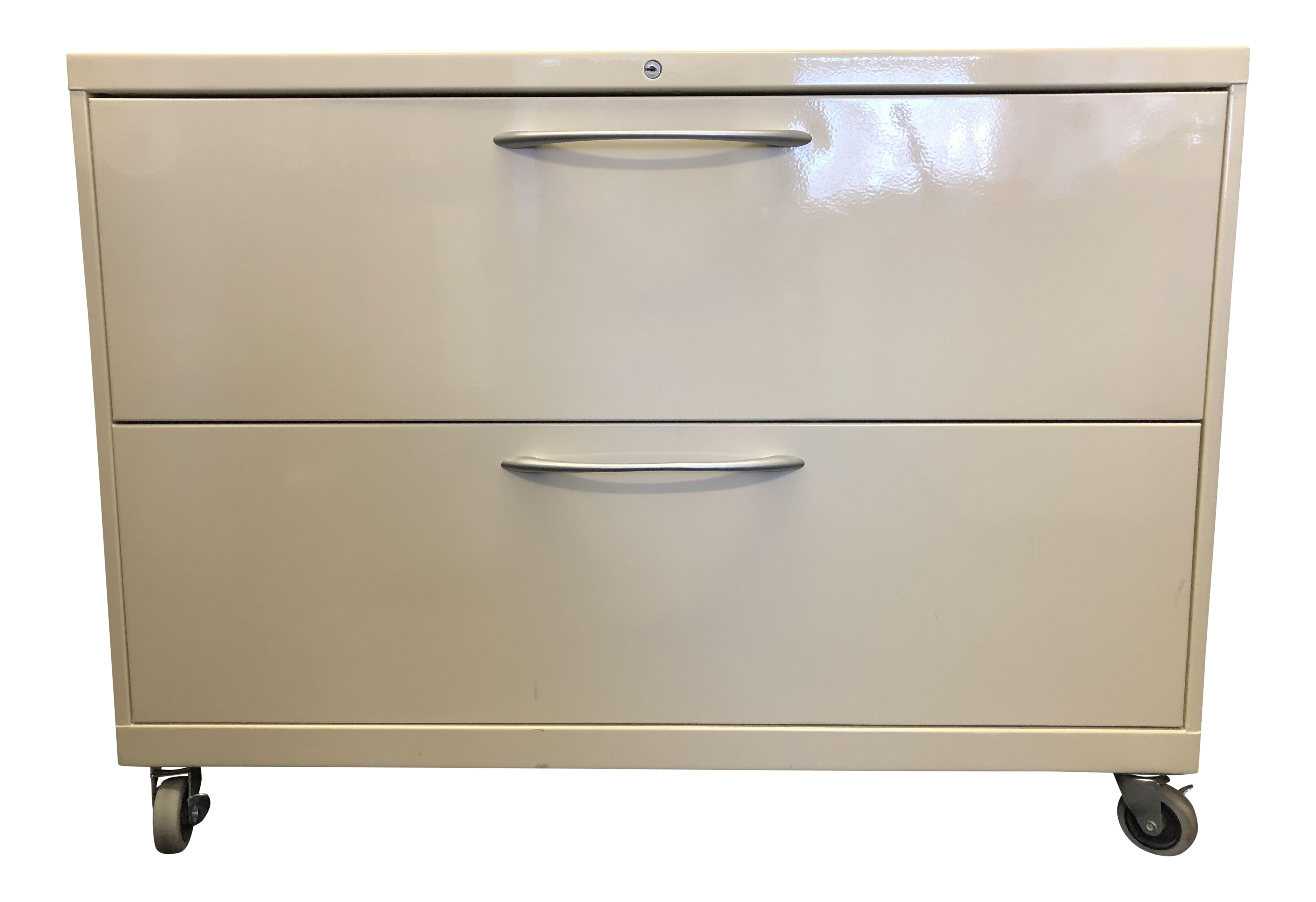 Delicieux Steelcase Metal Two Drawer Lateral Filing Cabinet For Sale