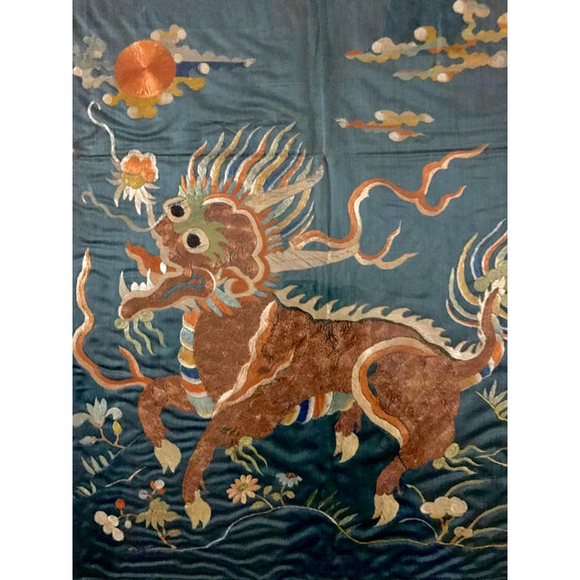 19th Century Qing Dynasty Imperial Chinese Silk Framed Tapestry Panel For Sale - Image 4 of 8