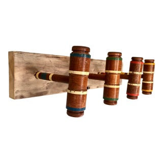Vintage Croquet Mallet Coat Rack For Sale