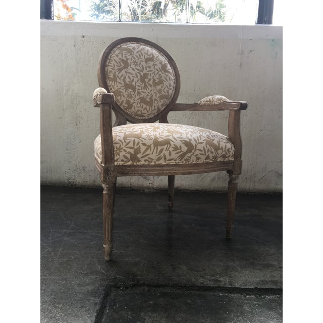 Whimsical Otomi Print Chairs - a Pair For Sale In Chicago - Image 6 of 7