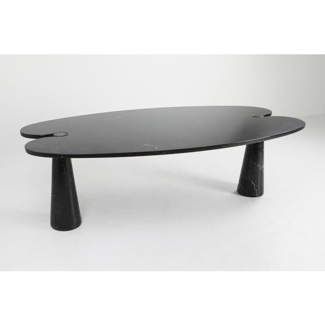 1970s Mangiarotti Black Marble Dining Table for Skipper For Sale - Image 6 of 12