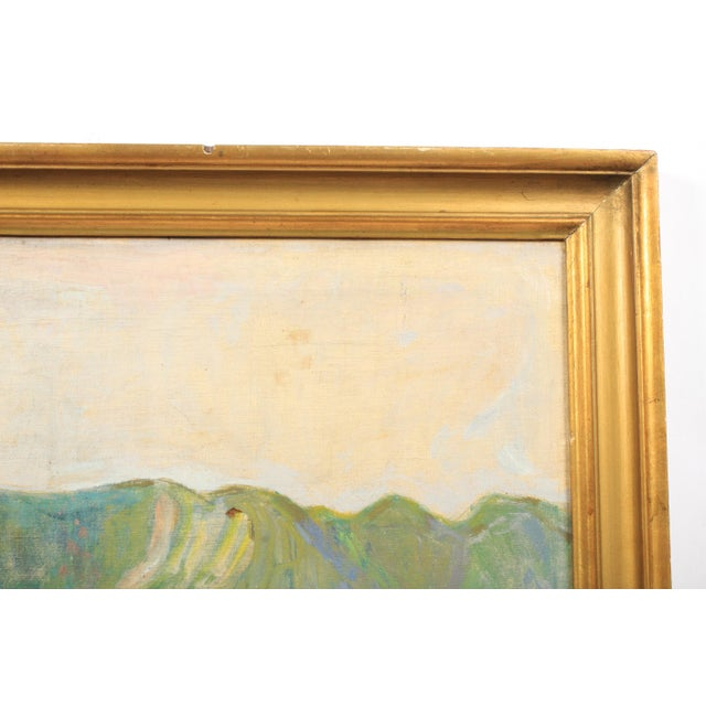 20th C. Expressionist Harvest Scene by Vedel Egebaek For Sale - Image 4 of 7