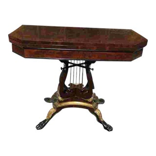 C. 1820 American Classical Game Table For Sale