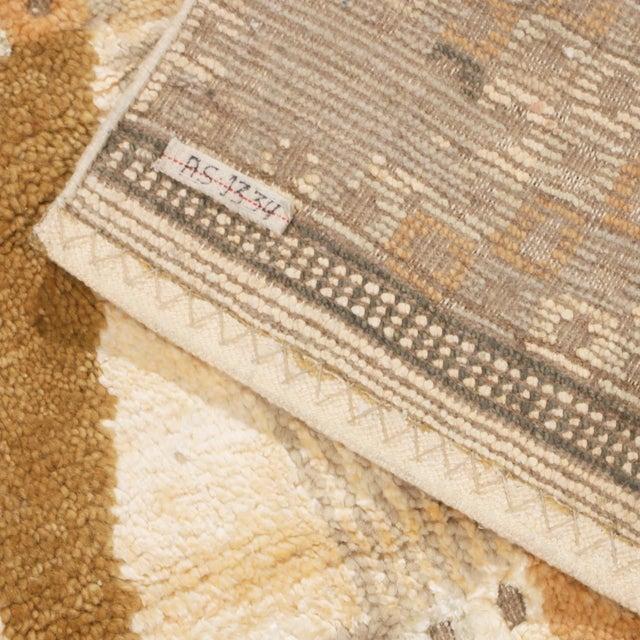 2010s Rug & Kilim's Scandinavian-Inspired Geometric Beige Cream Wool Pile Rug For Sale - Image 5 of 6