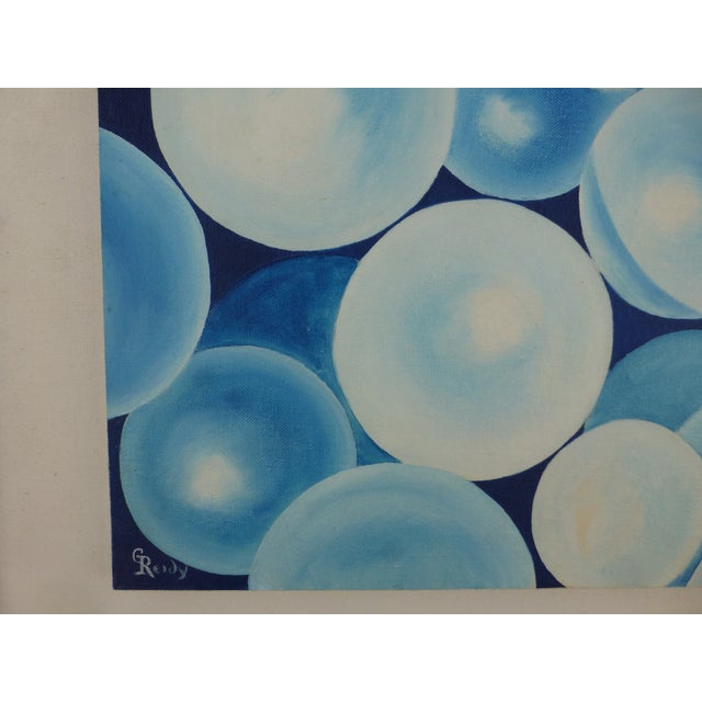 """Bubbles"" a Pop Geometric Modern Mid Century Painting For Sale In Boston - Image 6 of 13"