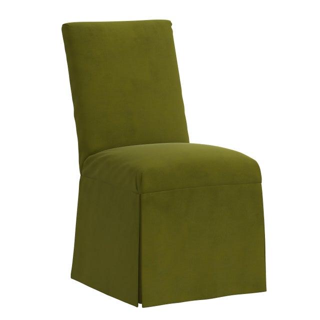 Green Slipcover Dining Chair in Velvet Applegreen For Sale - Image 8 of 8