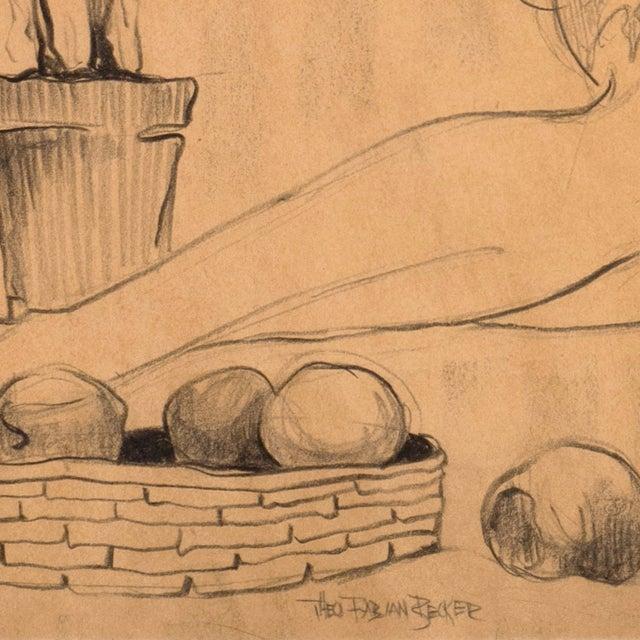 Fabian Becker Reclining Nude Drawing - Image 5 of 6