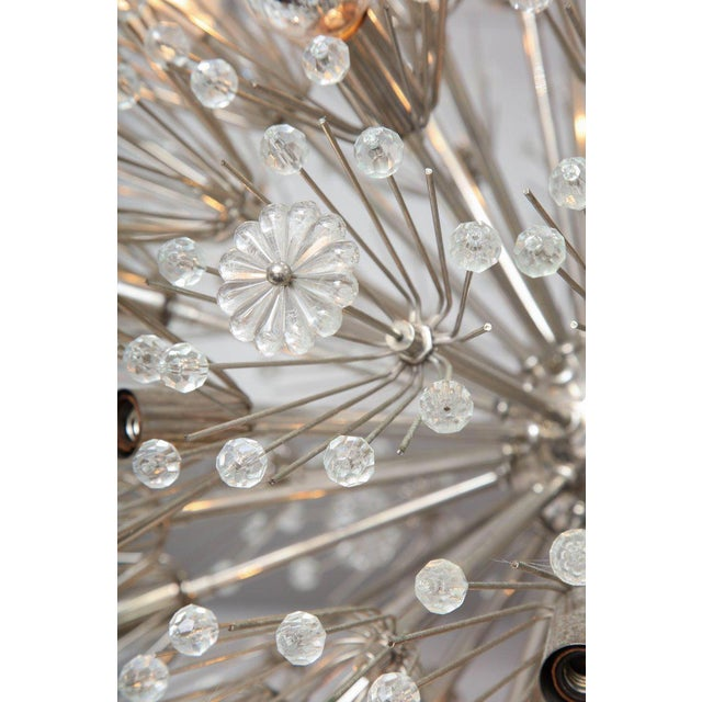 Vintage Emil Stejnar Austrian snowflake chandelier.