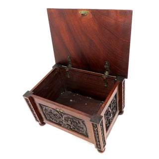 19th Century Victorian Hand Carved Mahogany Wood Box Preview