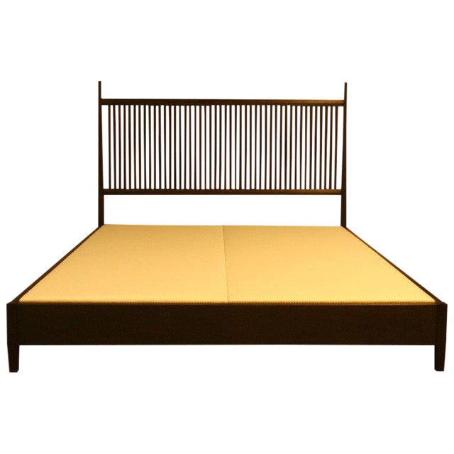 Nichol Walnut Platform Bed - Image 1 of 8