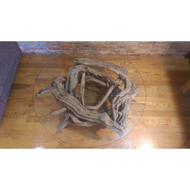 Driftwood Glass Top Coffee Table - Image 4 of 7