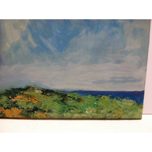 "1960s 1960s Vintage Frederick McDuff ""Blue Sky"" Signed Painting on Canvas For Sale - Image 5 of 7"