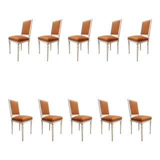 "Set of Ten Chairs Signed ""Jean Mocque,"" France 19th Century For Sale"